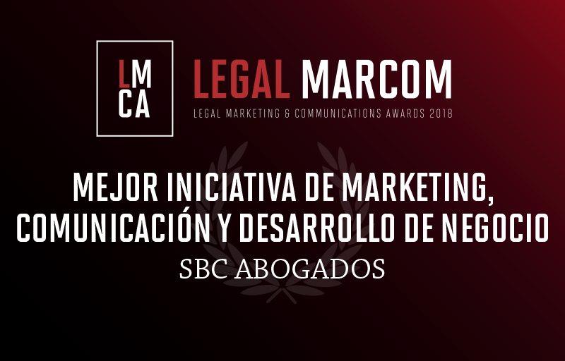 SBC Abogados, premiado en los prestigiosos Legal Marcom