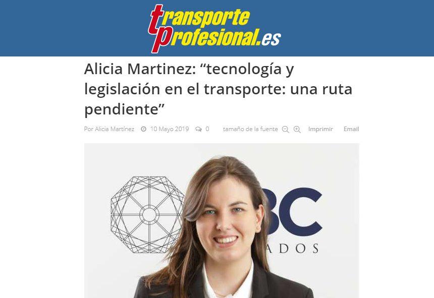 Alicia Martínez – Transporte Profesional